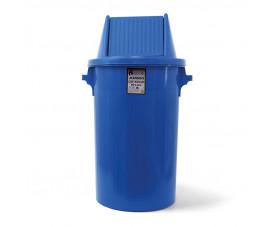 Сміттєвий бак типу буфет з поворотною кришкою синій пластик 90л BCK 107