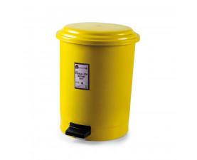 Корзина для мусора с педалью жёлтый пластик 30л PK-30 105