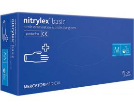Перчатки нитриловые NITRYLEX® BASIC 100 шт M Синие
