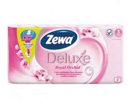 Туалетная бумага Zewa Deluxe Орхидея розовая 8 шт. в упаковке