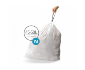 Мешки для сміття плотные с завязками 45-50л CW0262