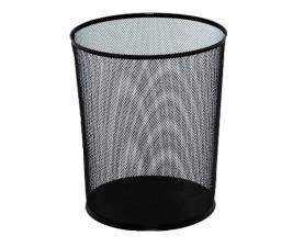 Металлическая корзина для бумаг сетка чёрная 12 л 2001