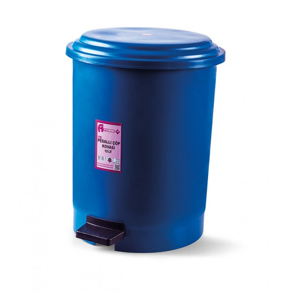 Корзина для мусора с педалью синий пластик 12л PK-12 107