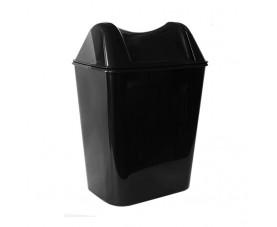 Корзина для мусора с поворотной крышкой чёрная 8л A57903_A58003