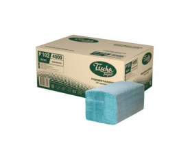 Полотенца бумажные зелёные V-складка Р-102