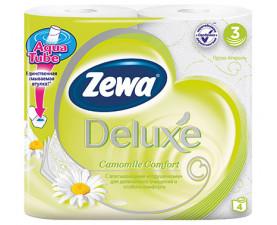 Туалетная бумага Zewa Deluxe Ромашка 4 шт. в упаковке