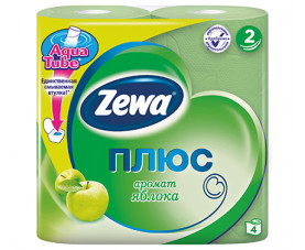 Туалетная бумага Zewa Плюс яблоко 4 шт. в упаковке