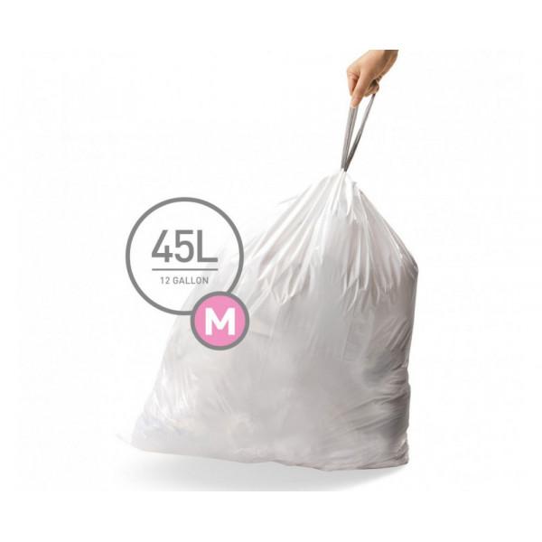 Мешки для мусора плотные с завязками 45л CW0261