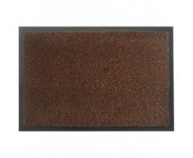 Коврик на резиновой основе с ворсом коричневый MOSS-Ch-90x120-BROWN