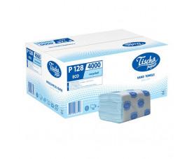 Полотенца бумажные синие V-складка Р-128