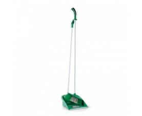 Комплект для підмітання, совок і щітка з витонченою ручкою зелений LSF 111Z