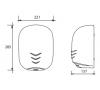 Сушилка для рук нержавеющая сталь глянцевая VAMA STREAM DRY UV LF фото - 2