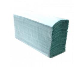 Полотенца бумажные Z-складка 1 слойные зелёные BASIC P402