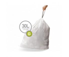 Мешки для мусора плотные с завязками 30л CW0257