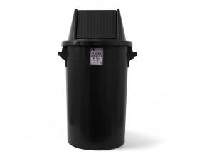 Сміттєвий бак типу буфет з поворотною кришкою чорний пластик 90л BCK 103
