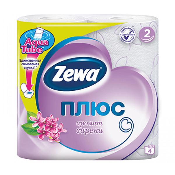 Туалетная бумага Zewa Плюс сирень 4 шт. в упаковке