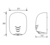 Сушилка для рук белый металл VAMA STREAM DRY UV BF 1100 фото - 2