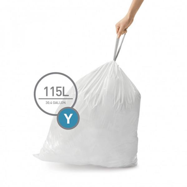 Мешки для мусора плотные с завязками 115л CW0404