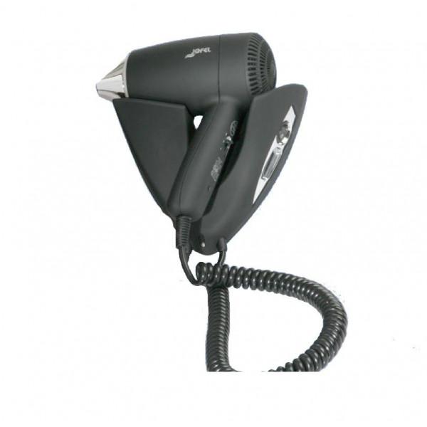 Фен для волос настенный чёрный пластик АВ65000NC