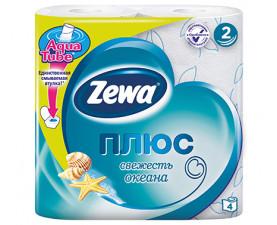 Туалетная бумага Zewa Плюс свежесть океана 4 шт. в упаковке