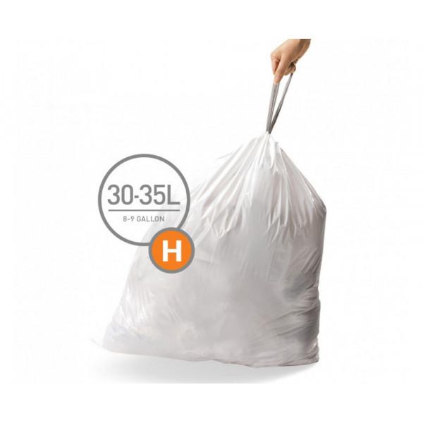 Мешки для мусора плотные с завязками 30л CW0258