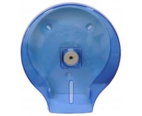 Диспенсер для туалетной бумаги джамбо голубой прозрачный пластик JTA 108