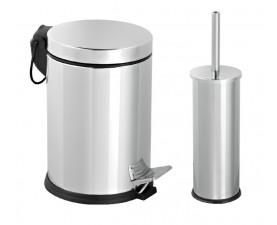 Набор для ванной из нержавеющей стали (корзина 3л + щётка микро) 477M
