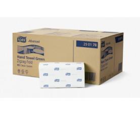 Бумажные полотенца сложение ZZ Tork Advanced зеленые 290178