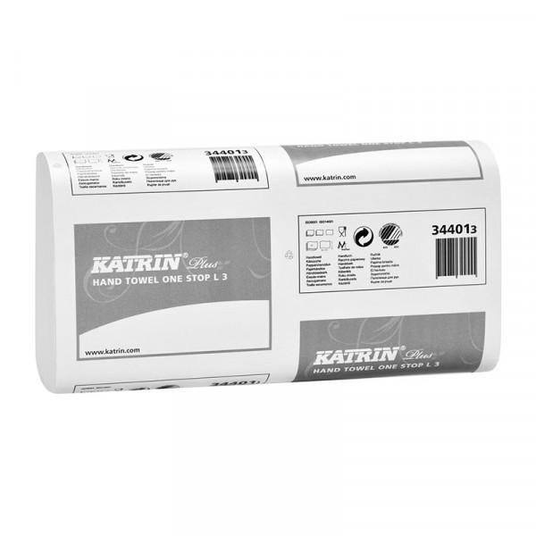 Полотенца бумажные Katrin Plus w-сложение 3 сл. 344013