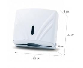 Диспенсер для бумажных полотенец Z 3-сложений белый пластик ZHA-2 100