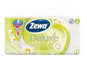 Туалетная бумага Zewa Deluxe Ромашка 8 шт. в упаковке