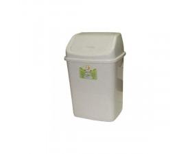 Ведро для мусора с крышкой белый флок 122061