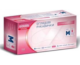 Перчатки нитриловые розовые M 100шт. TM MORE GOODS PROFESSIONAL