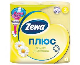 Туалетная бумага Zewa Плюс ромашка 4 шт. в упаковке