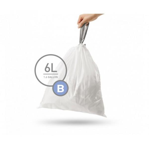 Мешки для мусора плотные с завязками 6л CW251