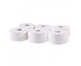 Туалетная бумага Джамбо целлюлозная белая 203022