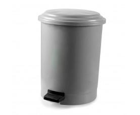 Корзина для мусора с педалью серый пластик 12л PK-12 101