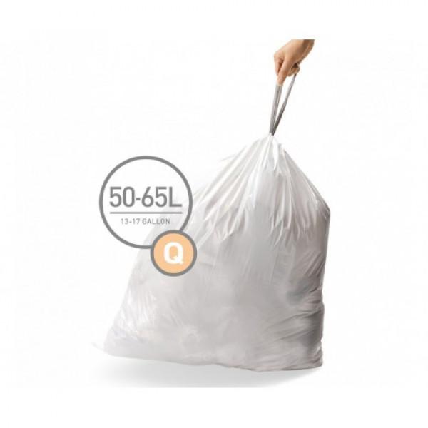 Мешки для мусора плотные с завязками 60л CW0264