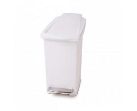 Урна для мусора с педалью 10л. белая SLIM CW1332