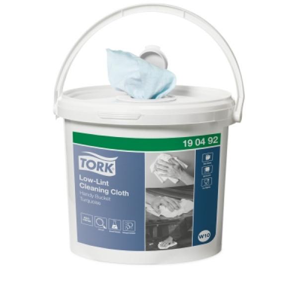Нетканый протирочный материал в ведре Tork Premium для очистки 190492