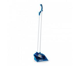 Комплект для підмітання, совок і щітка з витонченою ручкою синій LSF 111B