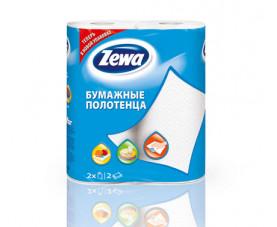 Бумажные полотенца Zewa Плюс белые 2 шт. в упаковке