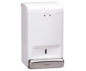 Дозатор жидкого мыла металлический белый DJ0030
