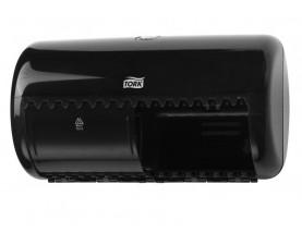 Диспенсер для туалетной бумаги в рулонах Tork Twin черный 557008