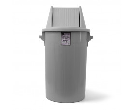 Сміттєвий бак типу буфет з поворотною кришкою сірий пластик 90л BCK 101