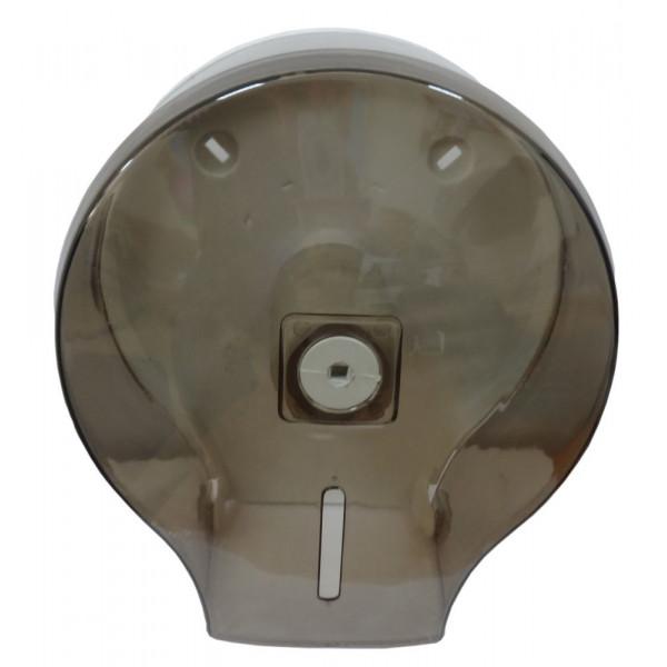 Диспенсер для туалетной бумаги джамбо чёрный прозрачный пластик JTA 109