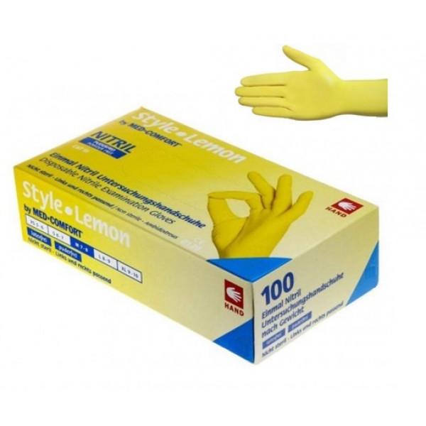 Перчатки нитриловые без пудры 100 шт. Ampri STYLE COLOR LEMON 01189-L