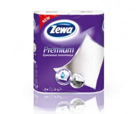 Бумажные полотенца Zewa Premium Белые 2 шт. в упаковке