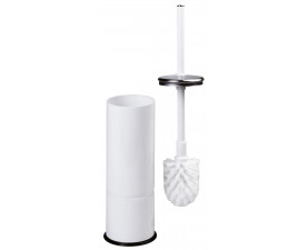 Щетка для унитаза напольная белый металл ES0010