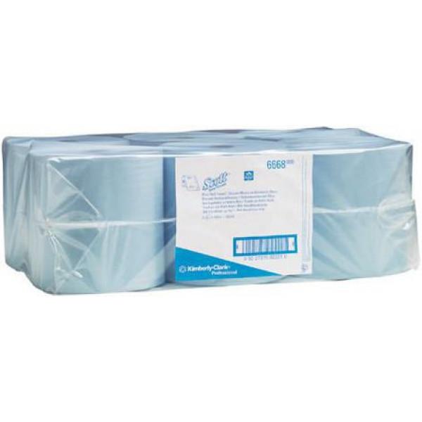 Бумажные полотенца в рулоне 1 слой SCOTT голубые 6668